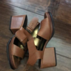 Robert Clergerie Shoes - Robert Clergerie Brown Leather Wedge Shoes